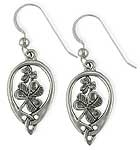Sterling Shamrock Earrings SW3139SE