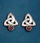 Triquetra Earring with stone
