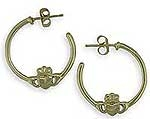 Claddagh Hoop Earrings SW4173