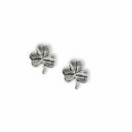 Shamrock Earrings Sterling Silver
