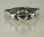 Claddagh Ring Sterling Silver C14 -15