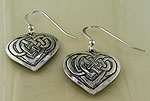 Celtic Jeanne's Heart Earrings SW3206E