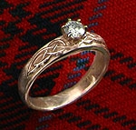 Diamond Celtic Wedding Ring