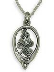 Sterling Shamrock Pendant SW3139SP