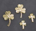 Shamrock Earrings in Gold