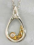Silver and Gold Diamond Necklace SW4143D