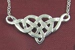 Heart Knot Necklace Sterling Silver