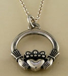 Sterling Claddagh Pendant