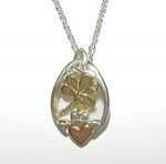 Claddagh Pendant in Silver & Gold SW3195K