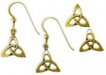 14K Sm Open Triquetra earrings