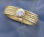 Josephine's Knot Celtic Ring with stone