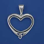 Beaded Heart Pendant SW386B