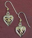 Sterling & Yellow Triquetra Earrings SW3130TE