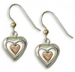 Sterling & Rose Heart Earrings SW3130RE