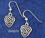 Heart Knot Earrings SW307