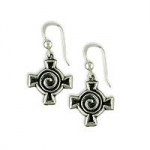 Spiral Cross Earrings SW3121E