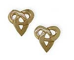 Celtic Knot Open Heart Earrings SW4180E
