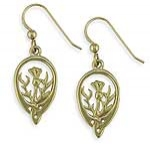 Gold Thistle Earrings SW4139TE