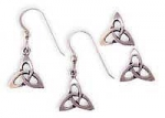 Sm Open Triquetra Drop Earrings