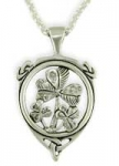 Three Shamrock Pendant SS sw3166