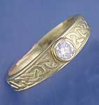 A Celtic Ring w/gemstone  R15