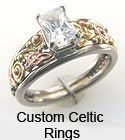 Celtic Diamond & gemstone rings