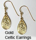 Gold Celtic Jewelry Earrings