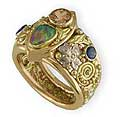 Custom Created Celtic Rings with gems & diamonds