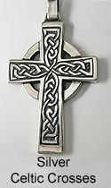 Silver Celtic Cross,